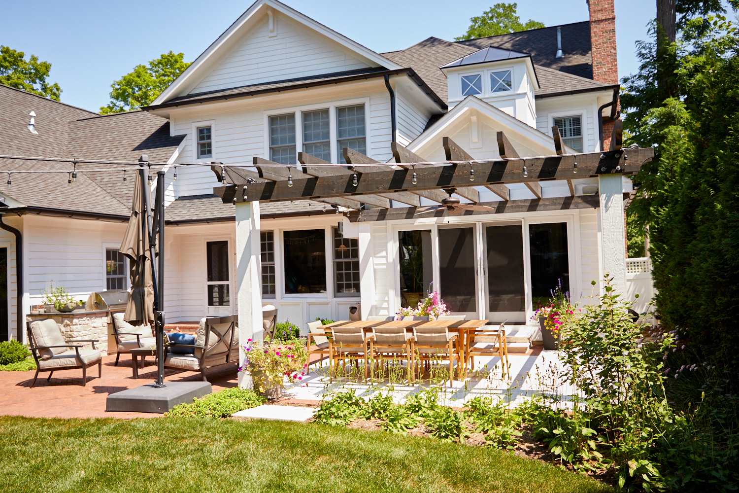 Pergola, patio and landscape Glen Ellyn