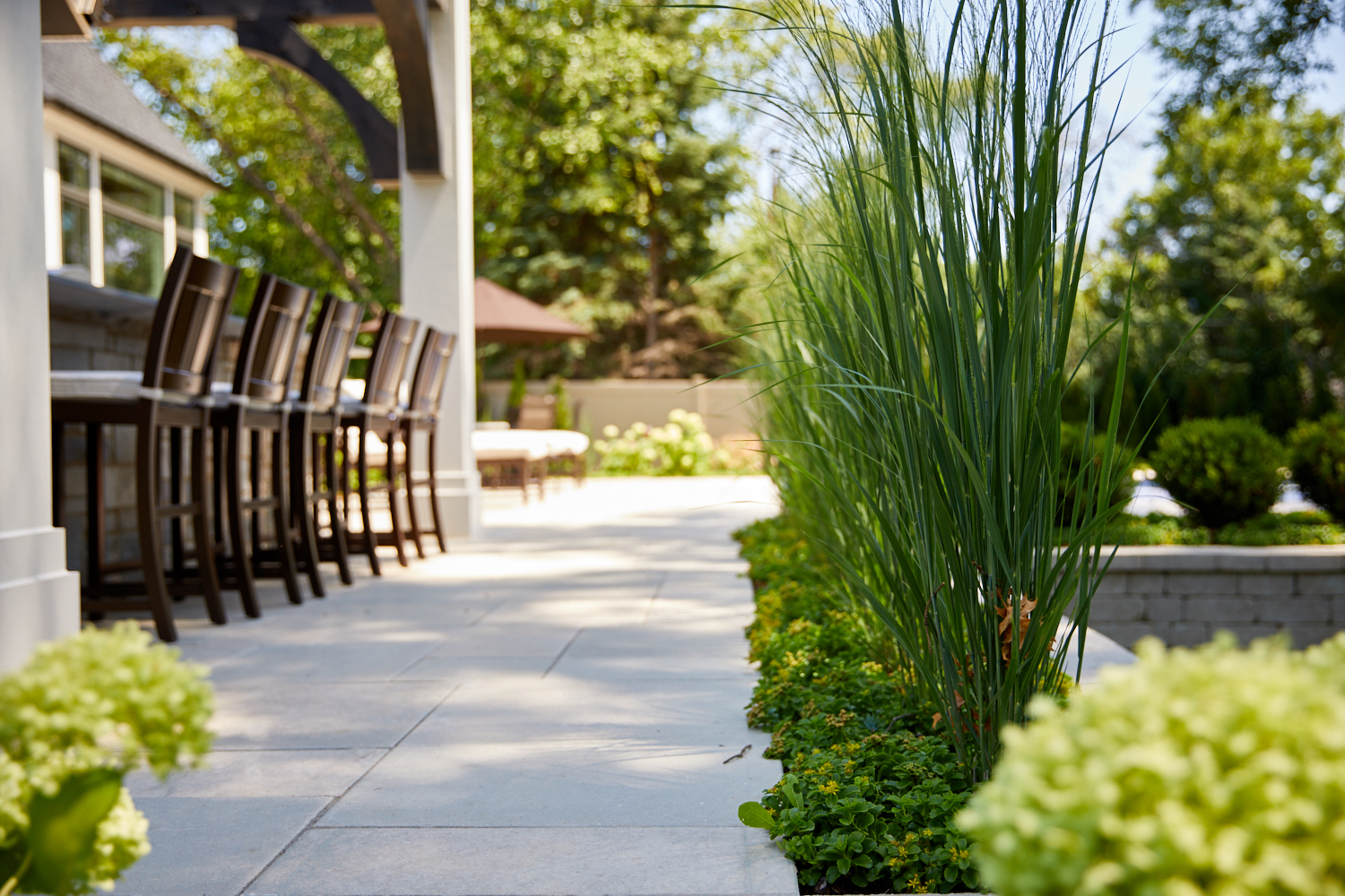 Outdoor kitchen and landscape Wheaton