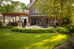 Pergola, patio and landscape Western Springs