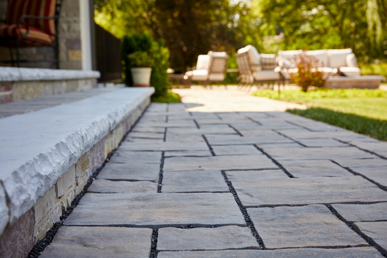 Paver walk Oak Brook