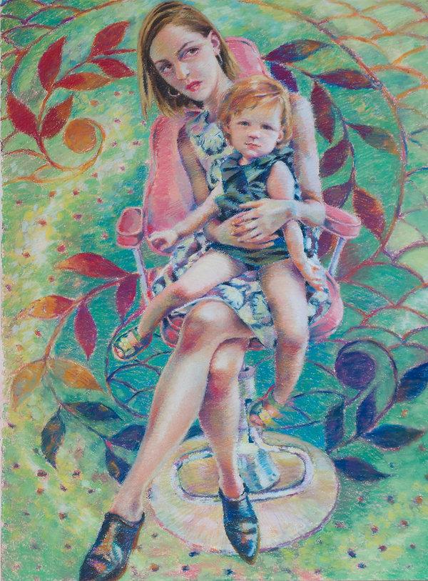 Contemporary Figurative Artist Pastel Portrait