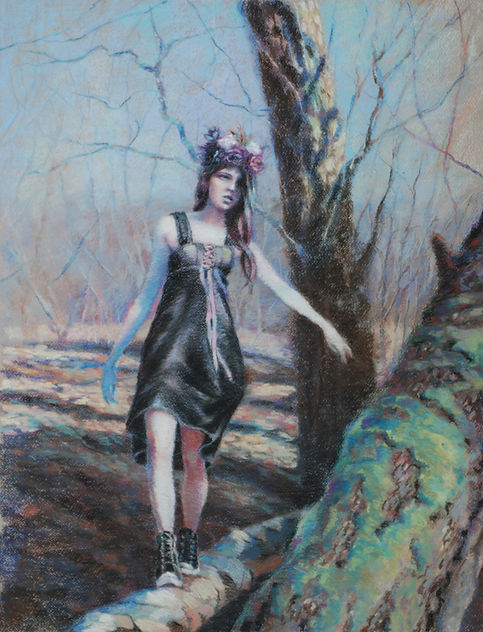 Contemporary Figurative Artist Woodland Fairy