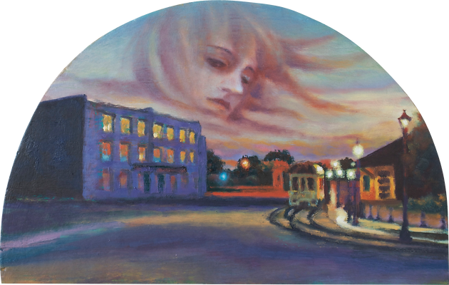 Contemporary Figurative Artist Twilight Scenery Spiritual