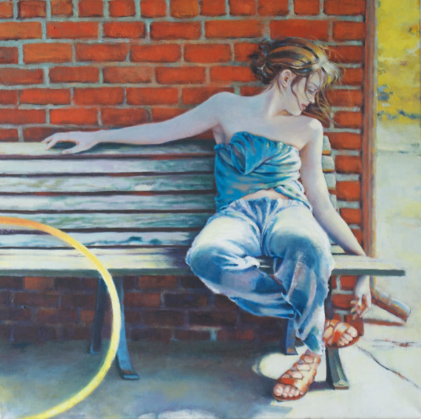 Contemporary Figurative Artist Model as Muse