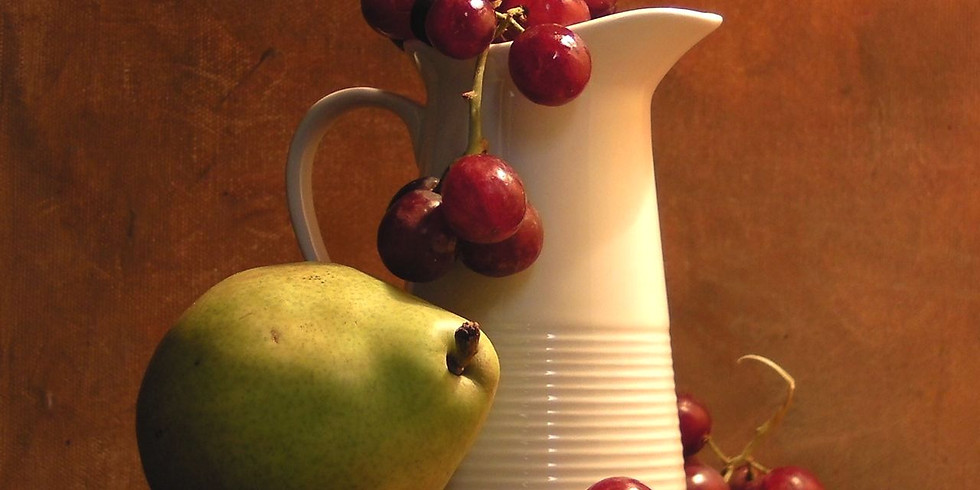 VAC Sketch of the Week - Pitcher, Pear and Grapes