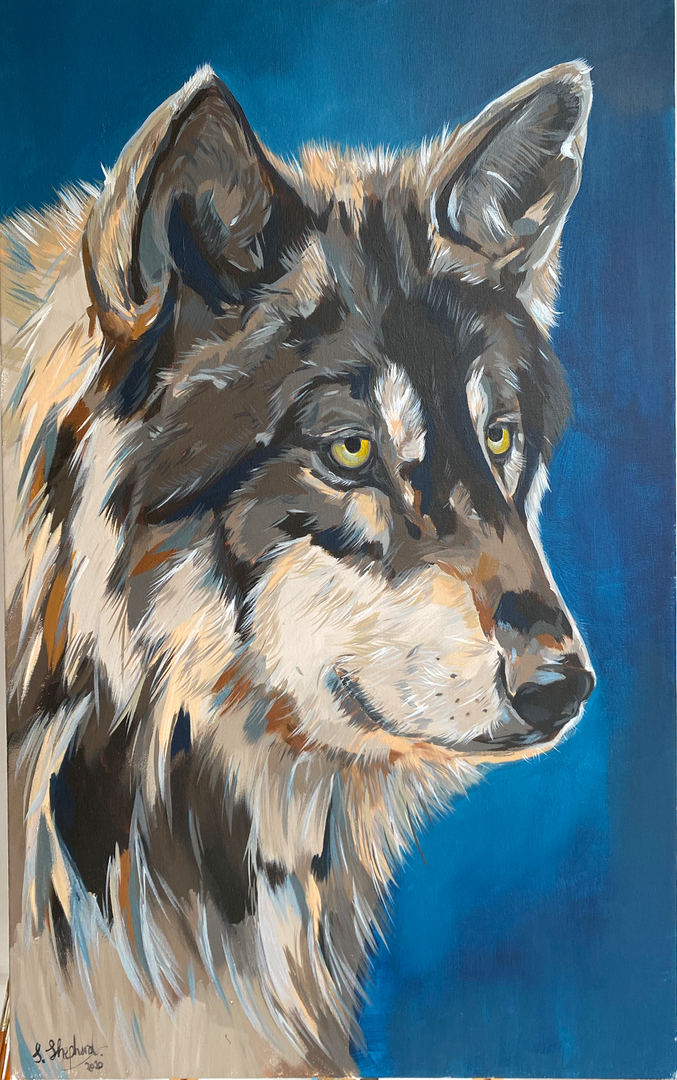 Wolf with Silver
