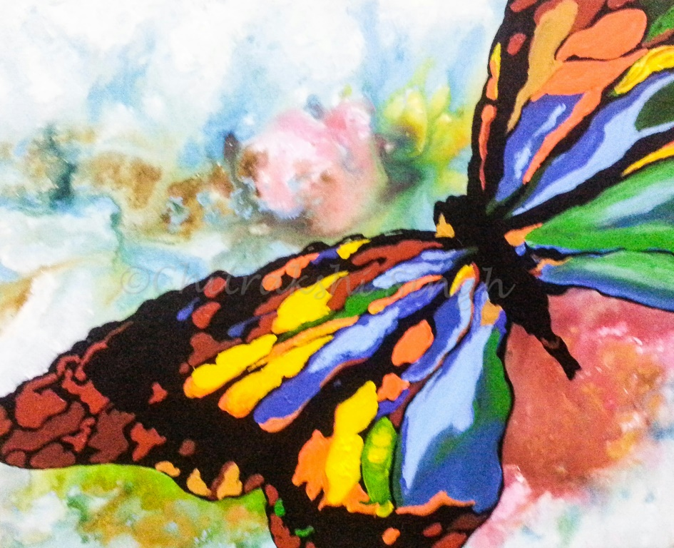 C-214: BUTTERFLY ABSTRACT