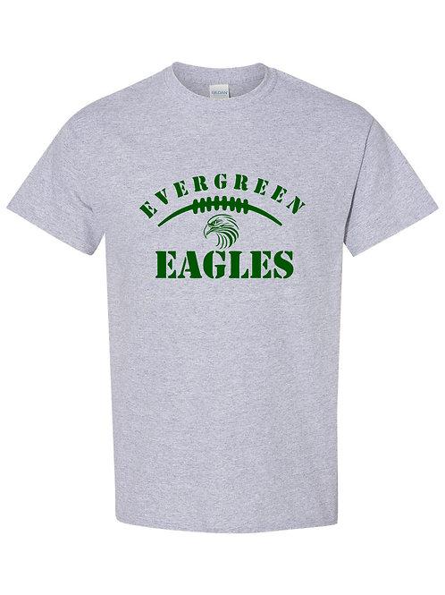Eagles- Evergreen Eagles Football Tee