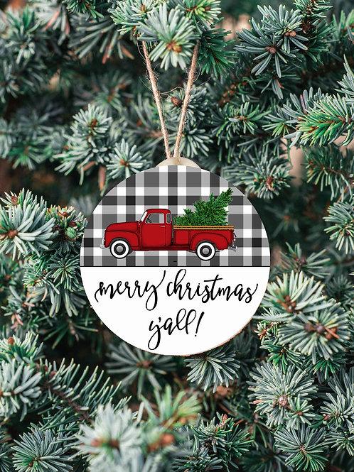 Merry Christmas Ya'll Ornament