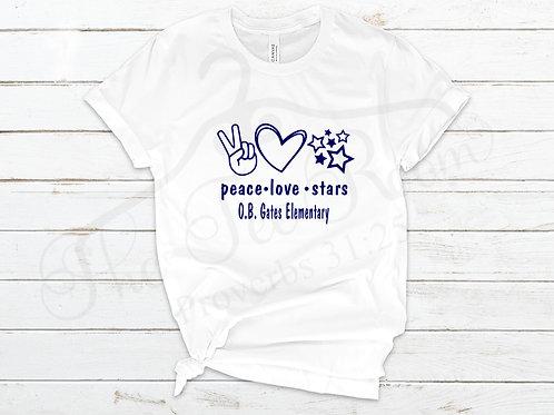 OB Gates Peace Love Stars