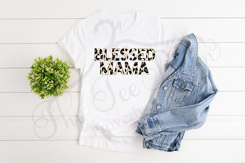 Blessed Mama- Cheetah Print