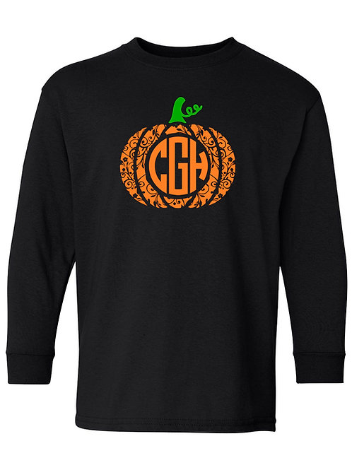 Swirly Pumpkin Monogram