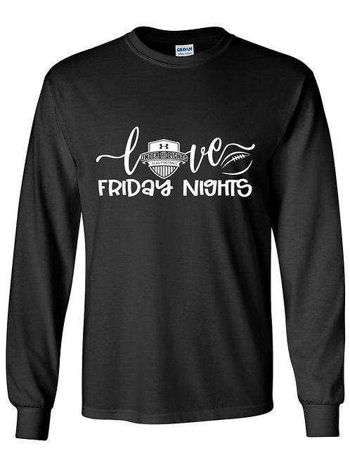 Love Friday Nights- Under the Lights Long Sleeve Cotton Tee