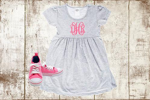 Monogrammed Little Girl Dress