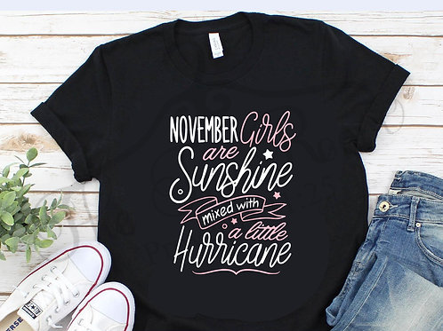 Sunshine Mixed With Hurricane- Birthday Tee