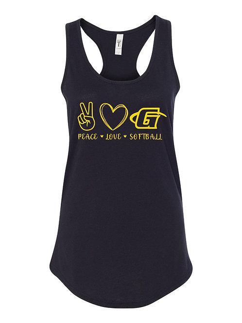 Gates Peace Love Softball Tank