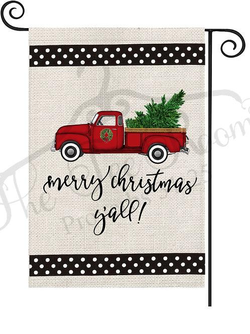 Merry Christmas Ya'll- Flag