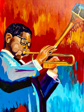 Dizzy Gillespie (Fire and Ice) - Commisioned by Southern Blues Restaurant