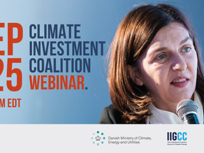 Thank You For Attending, Climate Investment Coalition Roadmap Event
