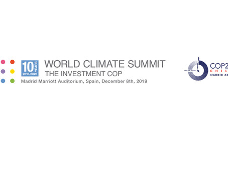 Press Release: World Climate Summit follows COP25 to Madrid