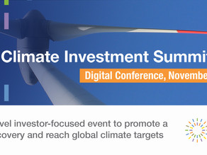 Major announcements on the investment road to COP26 at the Climate Investment Summit