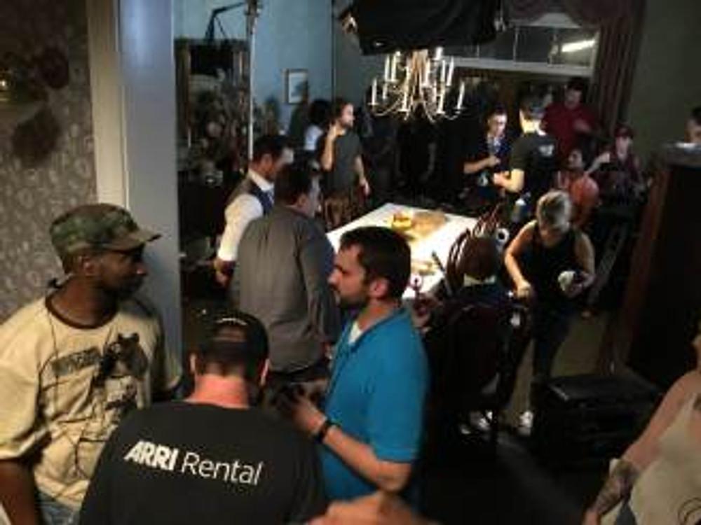 TerrenceWilliams on set