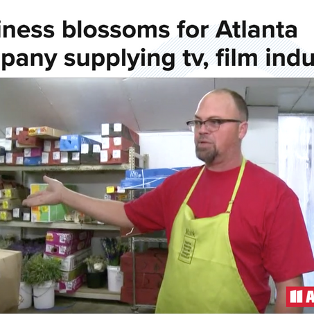 Business blossoms for Atlanta company supplying tv, film industry