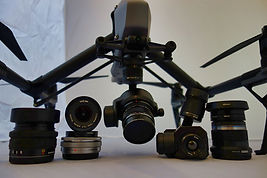DJI Inspire 2 drone and lenses