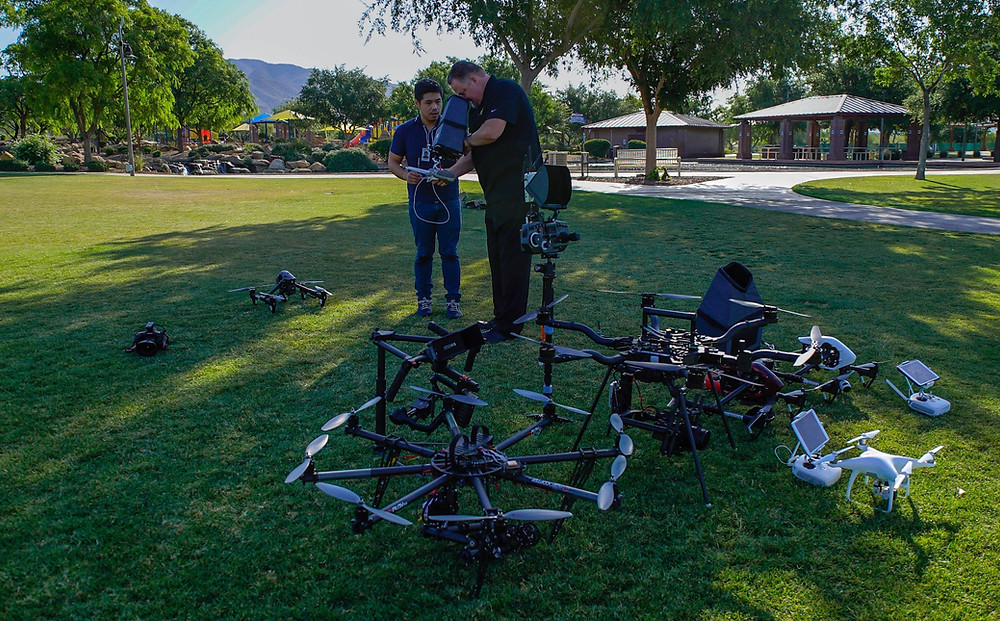 The fleet 6 drones