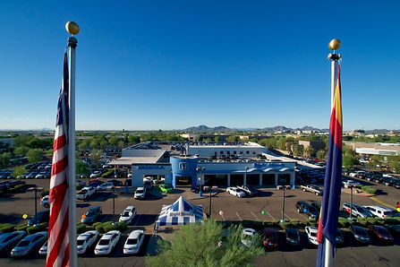 Automotive industry drone imagery arizona