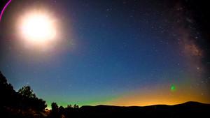 Timelapse DeFlicker-Sedona Milkey Way Moon Rise