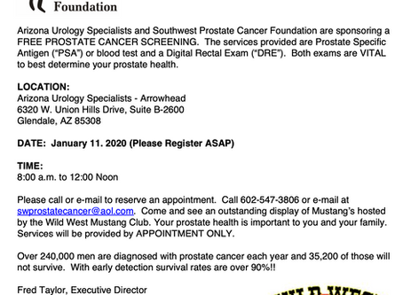 Free Prostate Cancer Screening - January 11, 2020