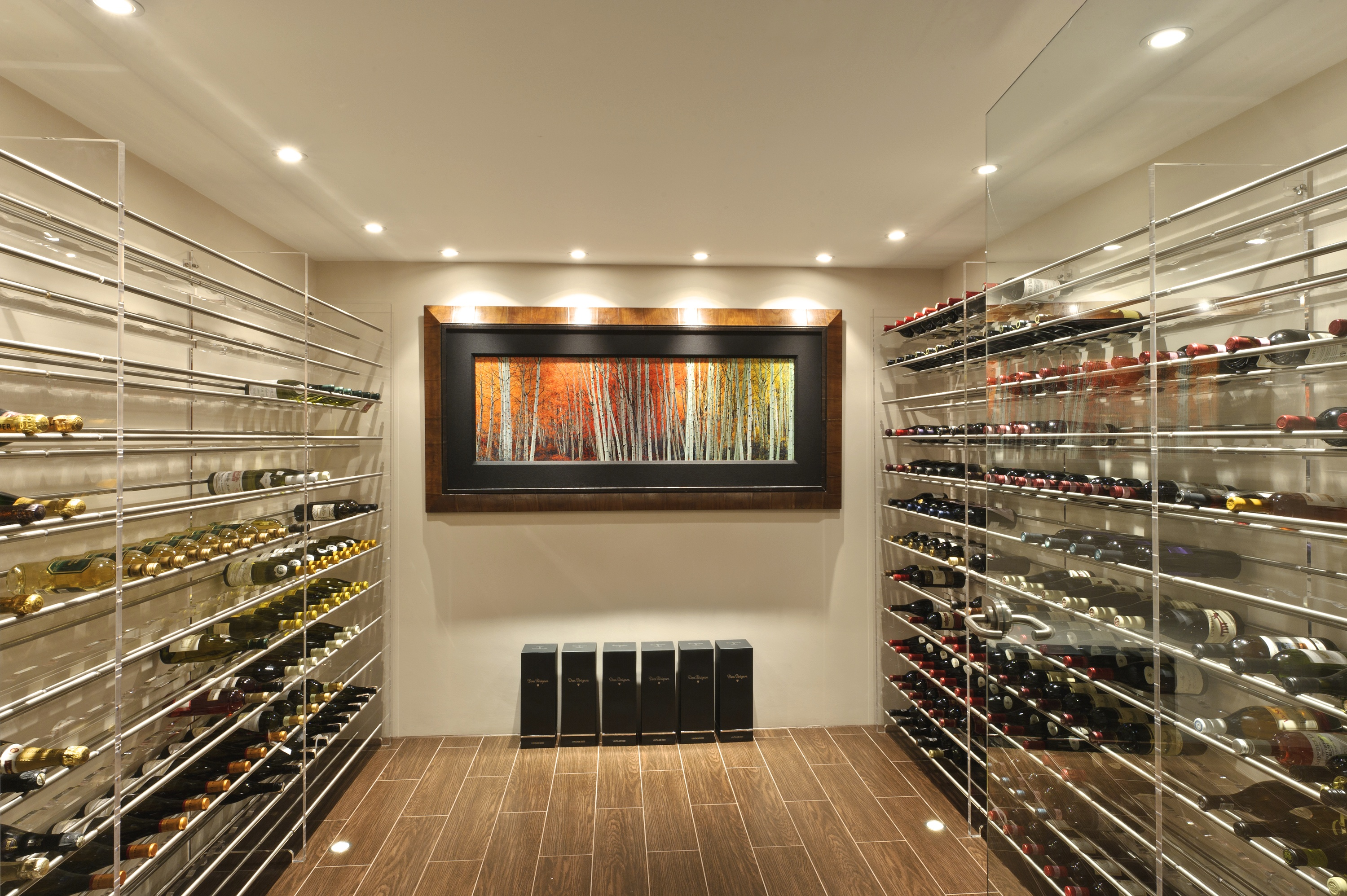 Custom designed wine cellar