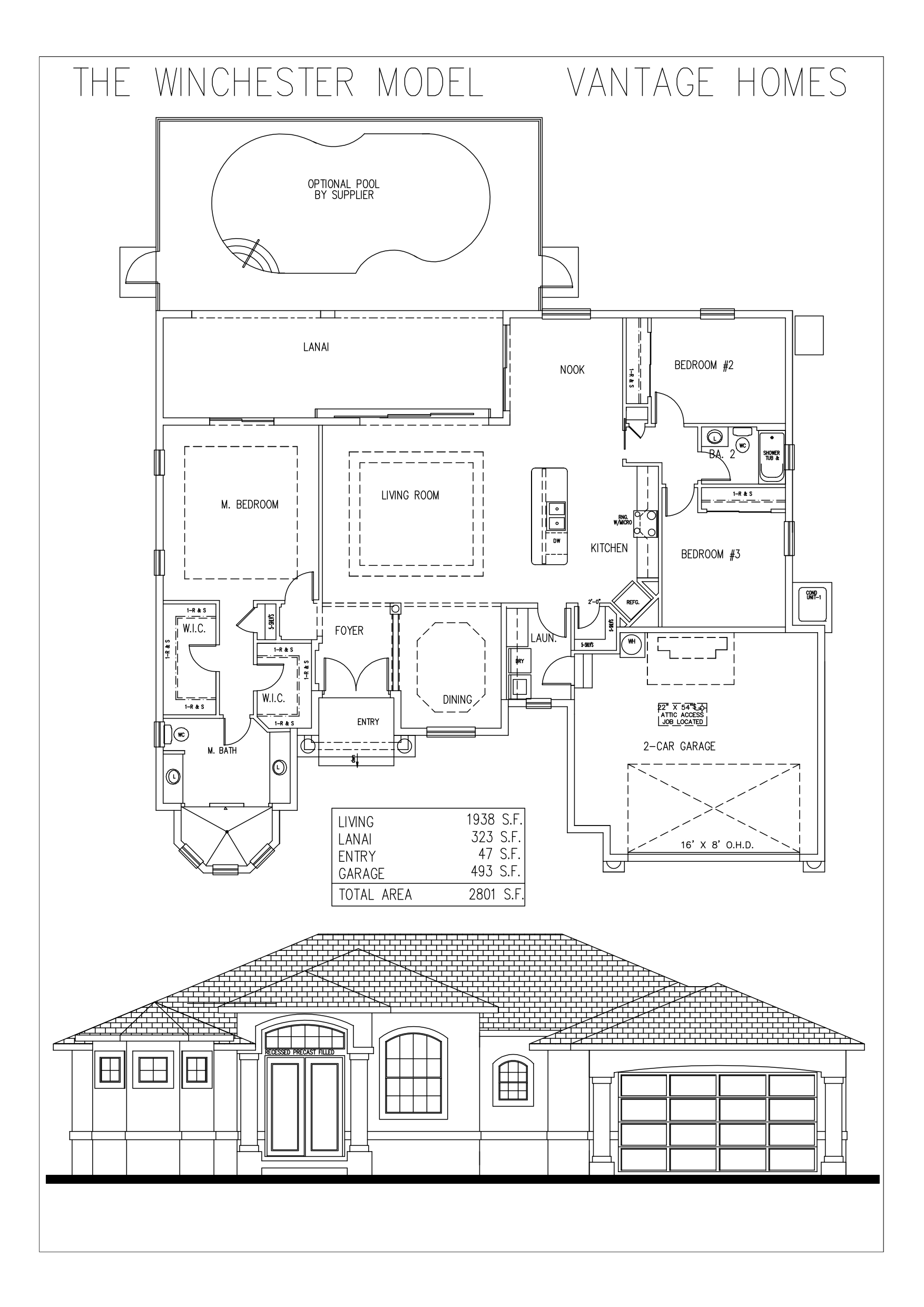 The Winchester Model floor plan