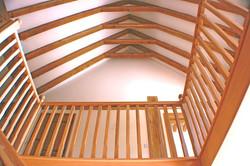 Exposed white oak beams