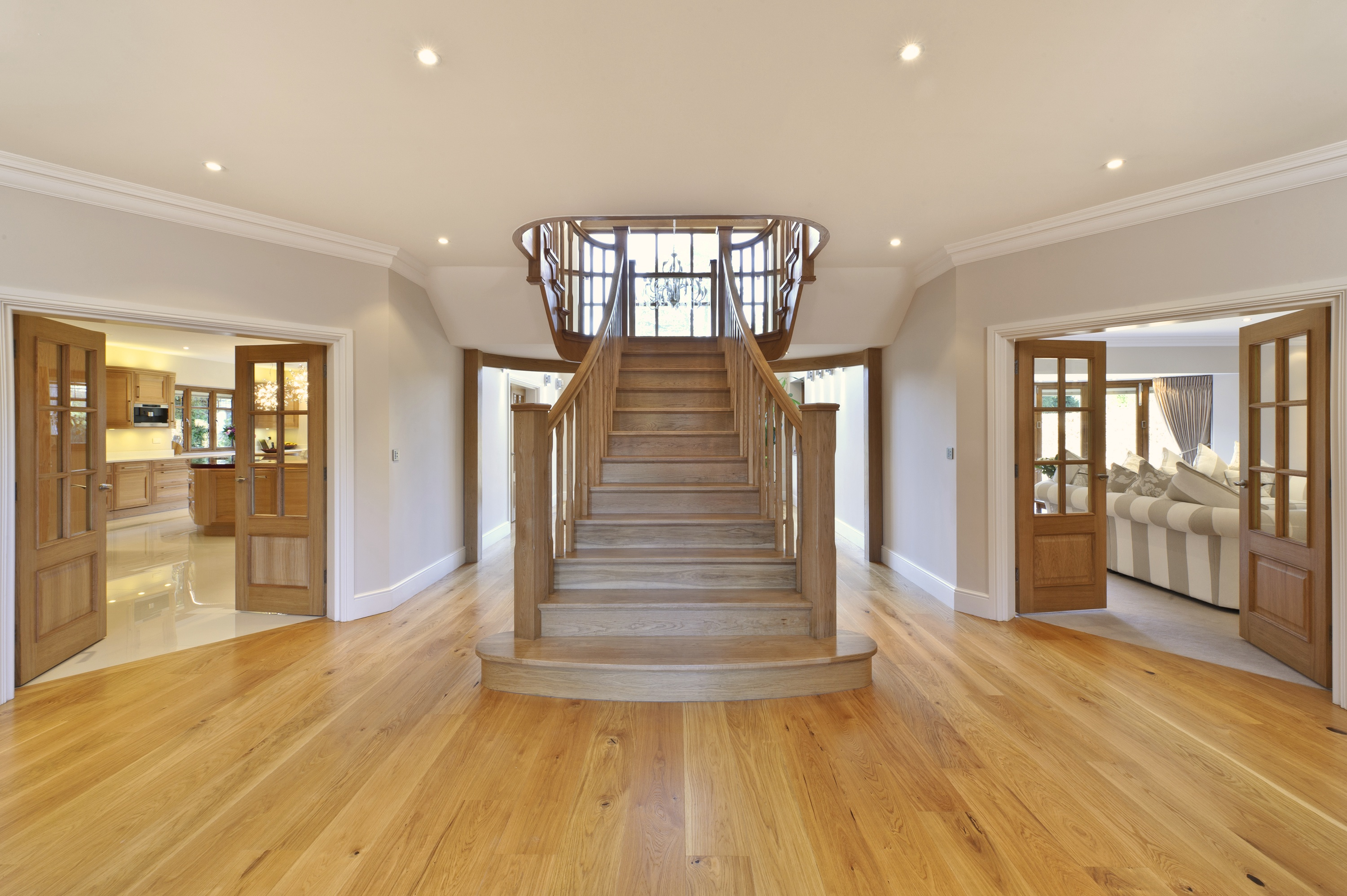 Custom made white oak staircase