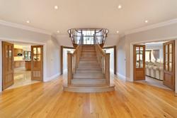 Custom made white oak staircase