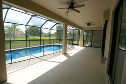 Outdoor pool with Lanai