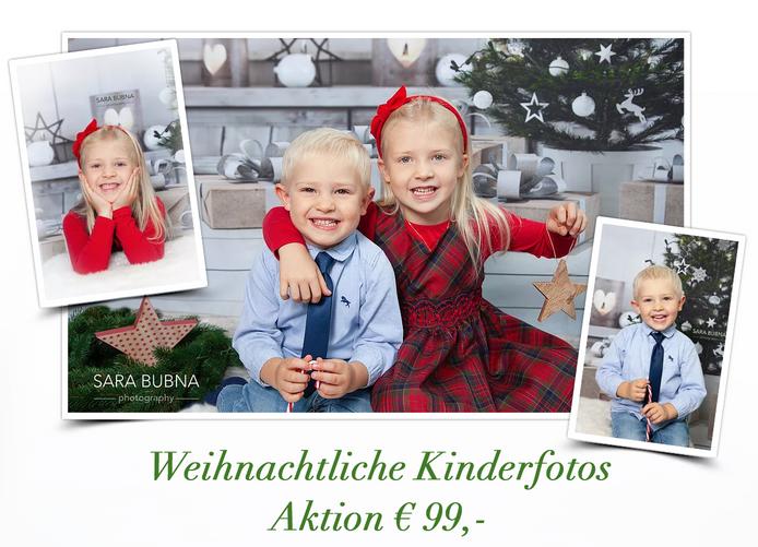 Weihnachtliche Kinderfotos für Weihnachtskarten oder div. Geschenke