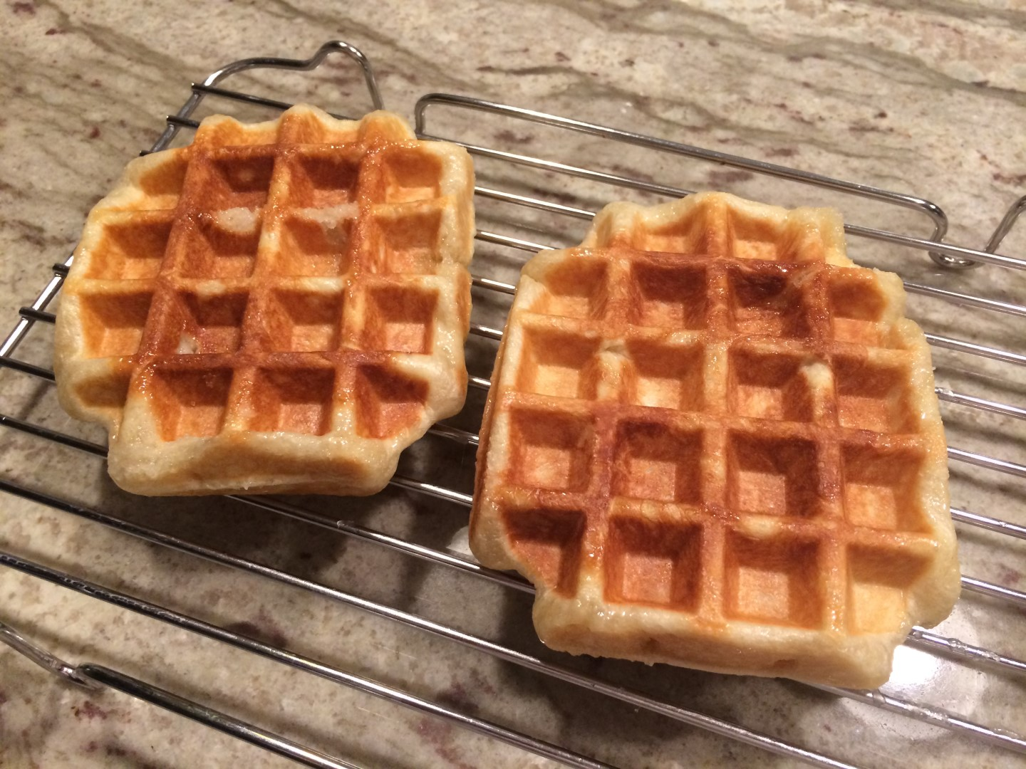 Waffles made on hamilton beach
