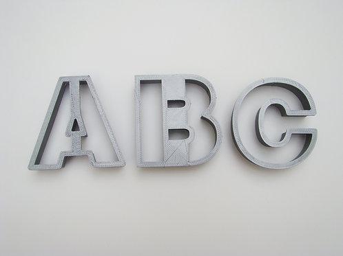 Cortadores Alfabeto A-Z s/ serifa, CAIXA ALTA