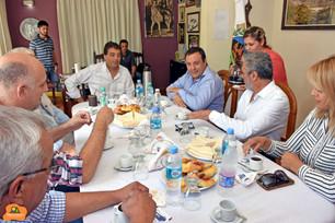 Reunión de intendentes del circuito serrano con el Vice Gobernador en Potrero de los Funes