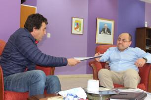 Preocupado por los incendios el intendente, Daniel Orlando, se reunió con el Ministro de Seguridad