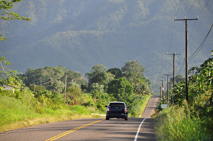 The drive on Hummingbird Highway - Belize's most scenic highway