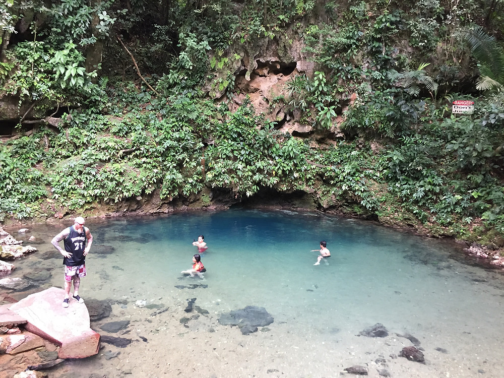 Inland Blue Hole at St Herman's National Park - Hummingbird Highway