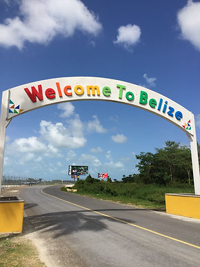 Welcome sign at Belize International Airport