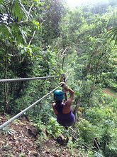 Zipline tour from Hopkins, Belize