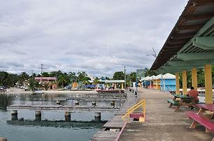 Placencia Village dock - most southern tip of Placencia Peninsula.jpg