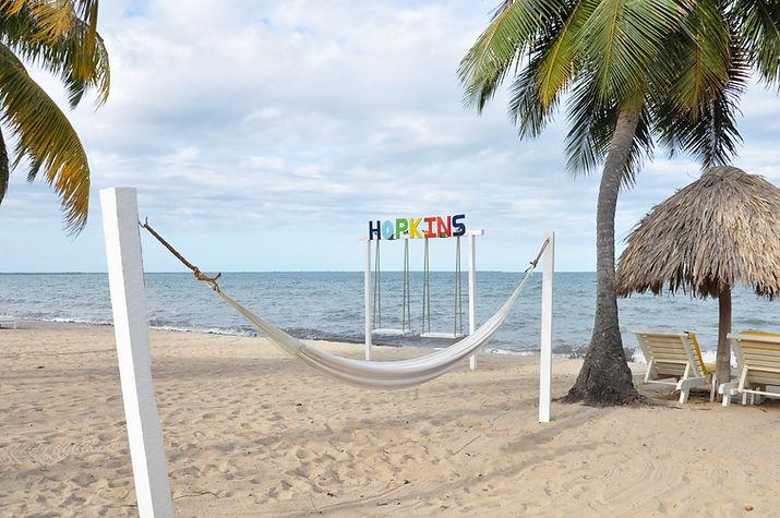 Hopkins Village beach chill spot - Jaguar Reef Lodge   Belize beach vacation