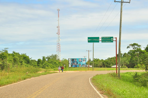 Placencia Village access road - southern Belize shuttle